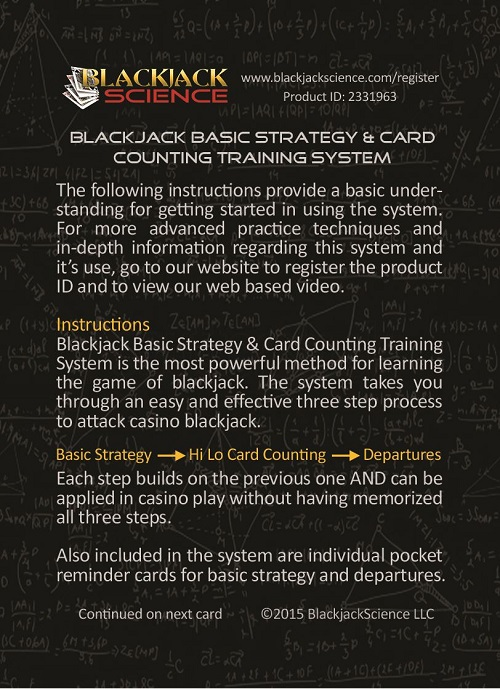 Products Blackjack Science